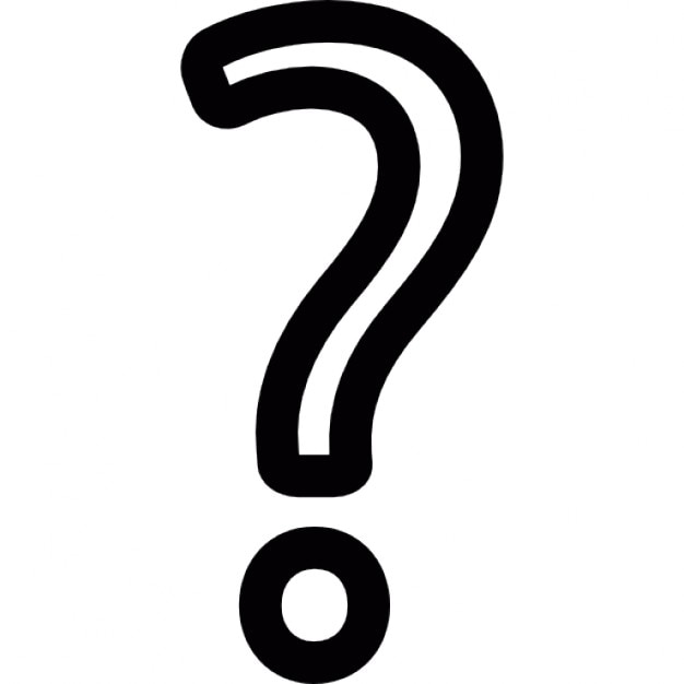 Question Mark Symbol Outline Icons Free Download