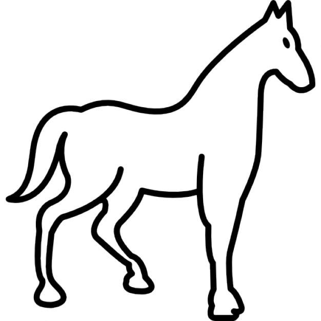 Quit race horse outline Icons | Free Download