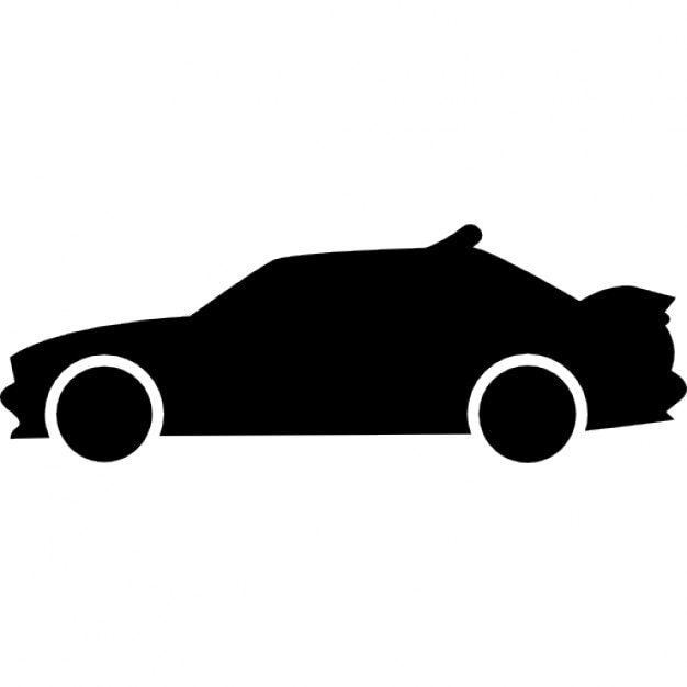 Racing Car Side View Silhouette Icons Free Download