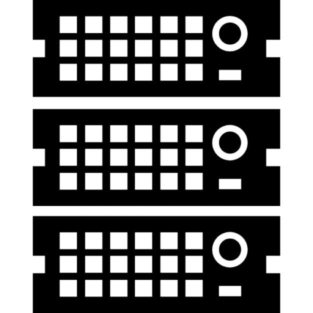 Rack Servers Free Icon