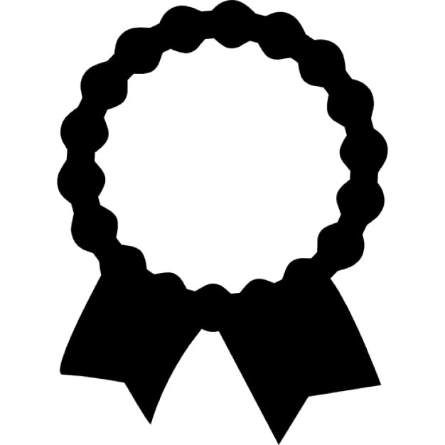 Recognition Award Label With Ribbon Tails Icons Free