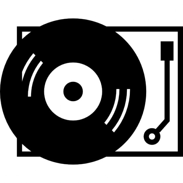 Record player icons free download for House music symbol