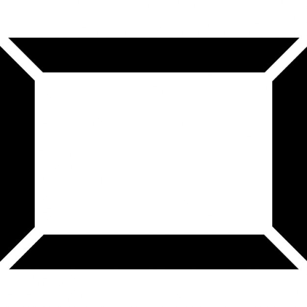 Rectangular art frame Icons Free Download