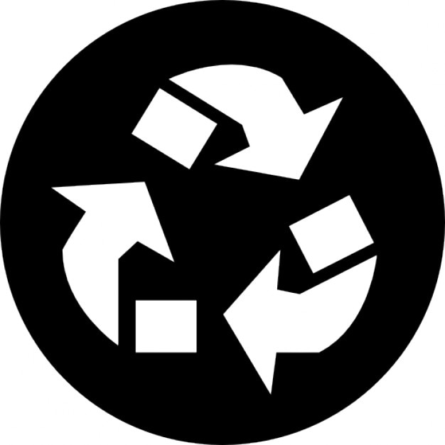 Recycle Arrows Triangle Symbol In A Circle Icons Free Download