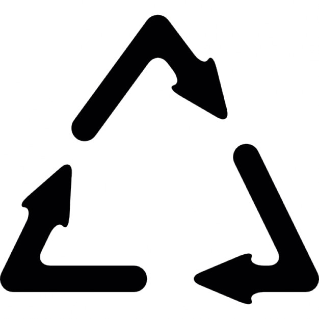 Recycle Symbol With Three Arrows Icons Free Download