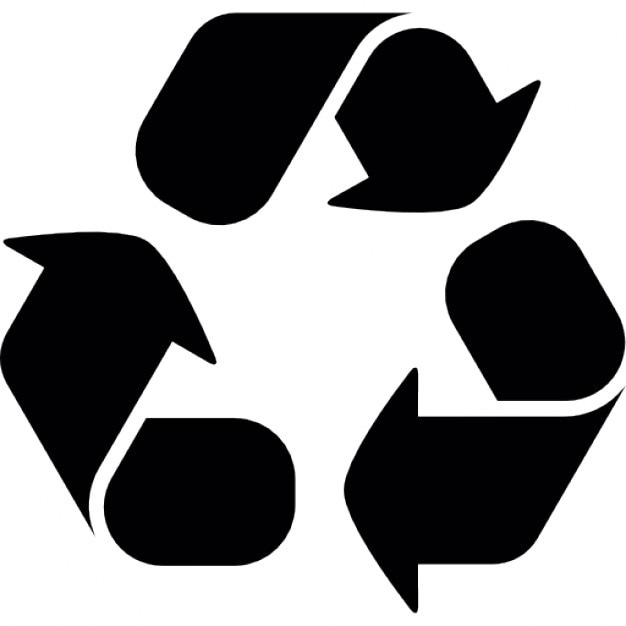 recycling symbol with three curve arrows icons free download rh freepik com recycling icon vector free recycle icon vector free