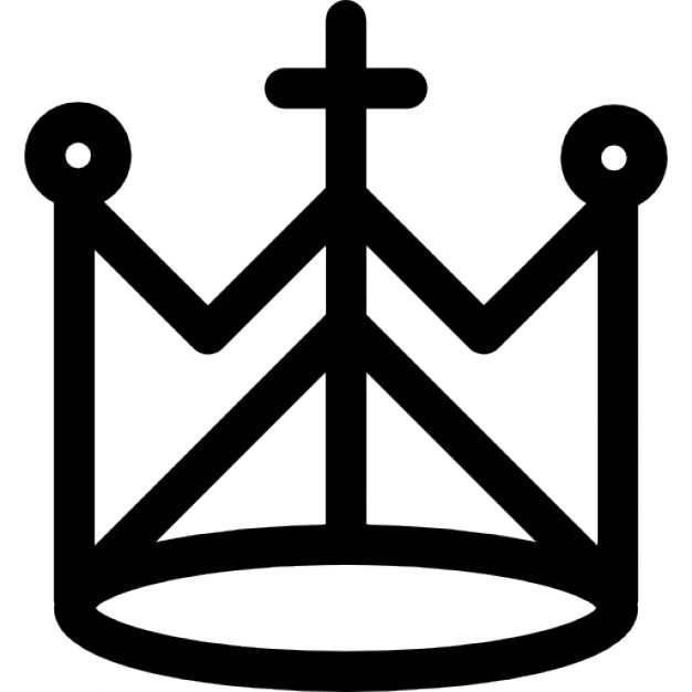 Religion Crown With Cross And Circles Icons Free Download