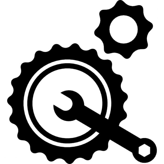 Wrench Black Vector Repair mechanism Icons...