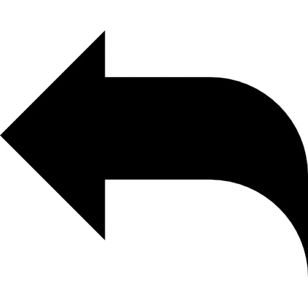 Reply Black Left Arrow Interface Symbol Icons Free Download