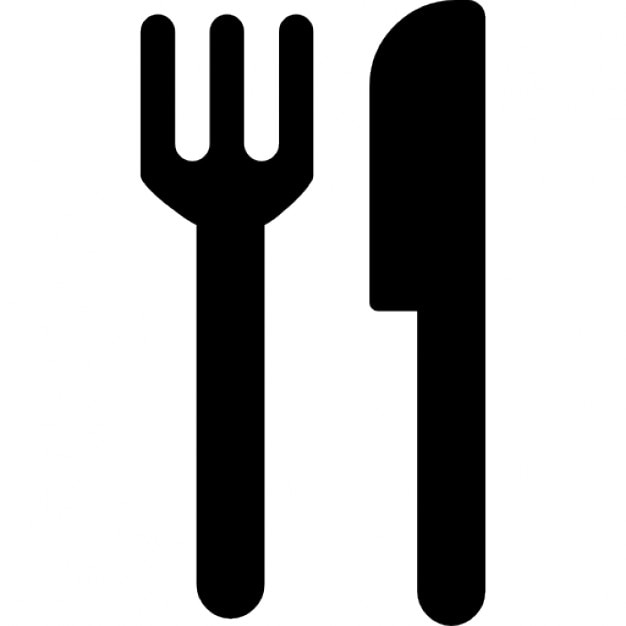 restaurant interface symbol of fork and knife couple icons | free