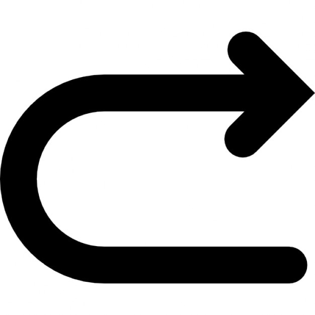 returning arrow ios 7 interface symbol icons free download