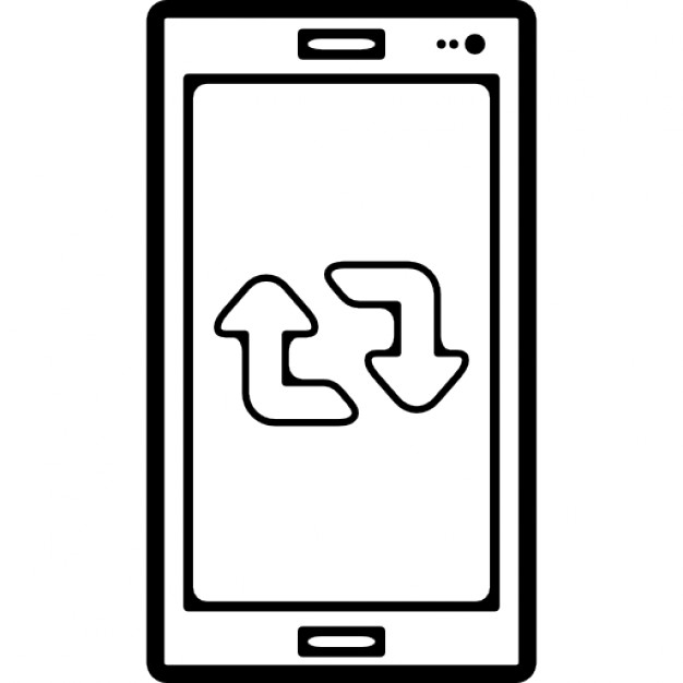 Retweet Symbol On Mobile Phone Screen Icons Free Download