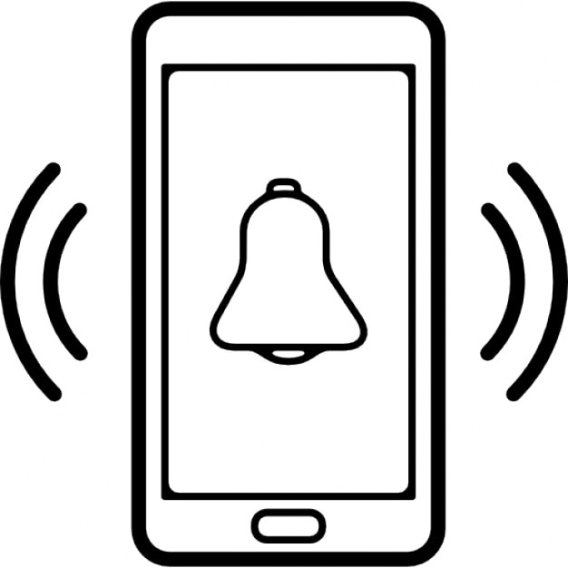 Ring Symbol Of Mobile Phone Icons Free Download