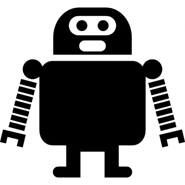 Robot of long arms and short legs Free Icon