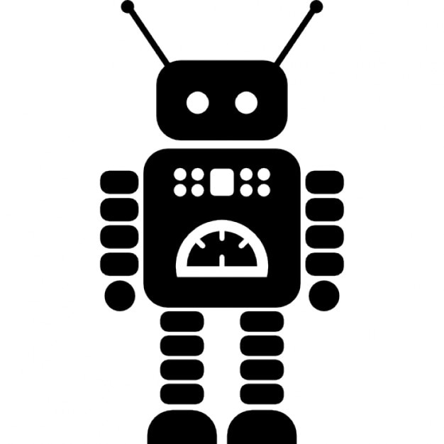 Robot with flexible arms and legs Free Icon