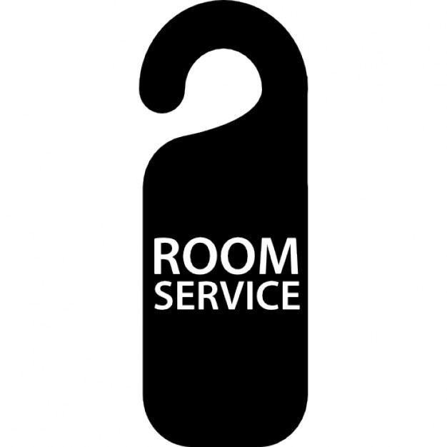 Room Service: Room Service Signal For Hotel Doors Icons