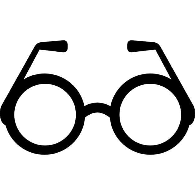 Round eyeglasses Icons