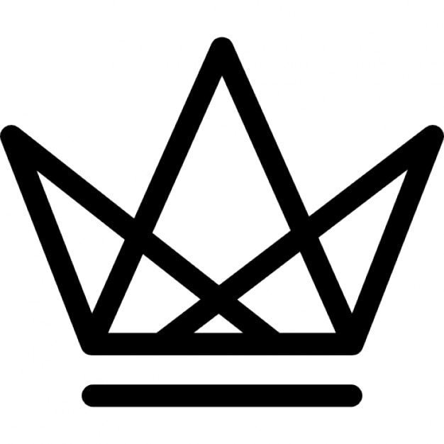 Royal Crown Of Triangles Grid Design Icons Free Download