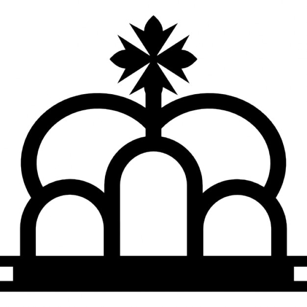royal crown with cross variant symbol icons free download