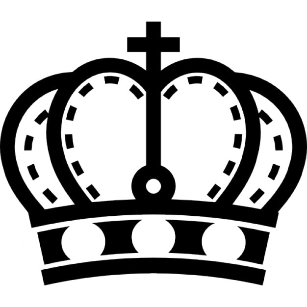 Royalty Crown With Cross And Gem Studs Icons Free Download