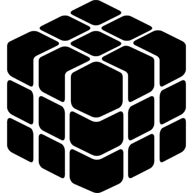 Cube Icon Download Cube Silhouette Free Icon