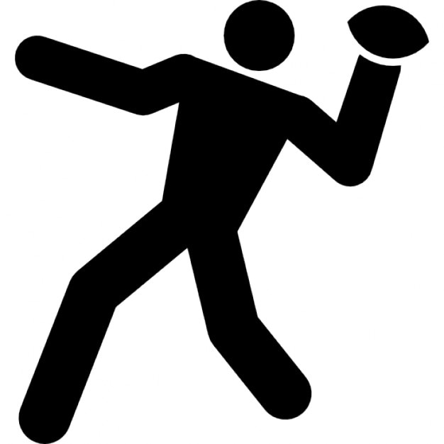 rugby player throwing the ball icons free download