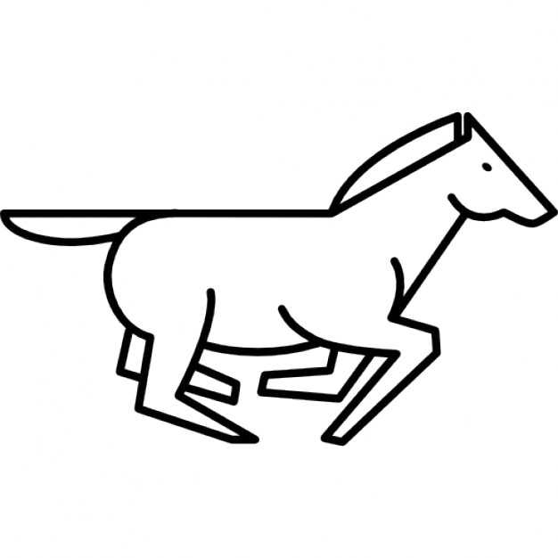 Running horse outline Icons | Free Download - photo#4