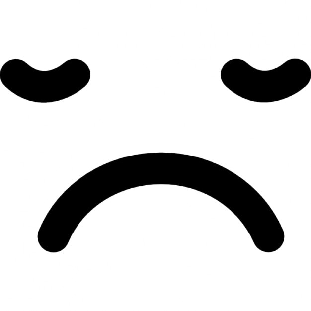 Sad Sleepy Emoticon Face Square Icons Free Download