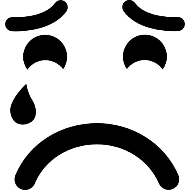 Sad Suffering Crying Emoticon Face Icons Free Download