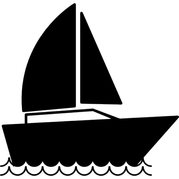 Sail boat, IOS 7 interface symbol Icons | Free Download