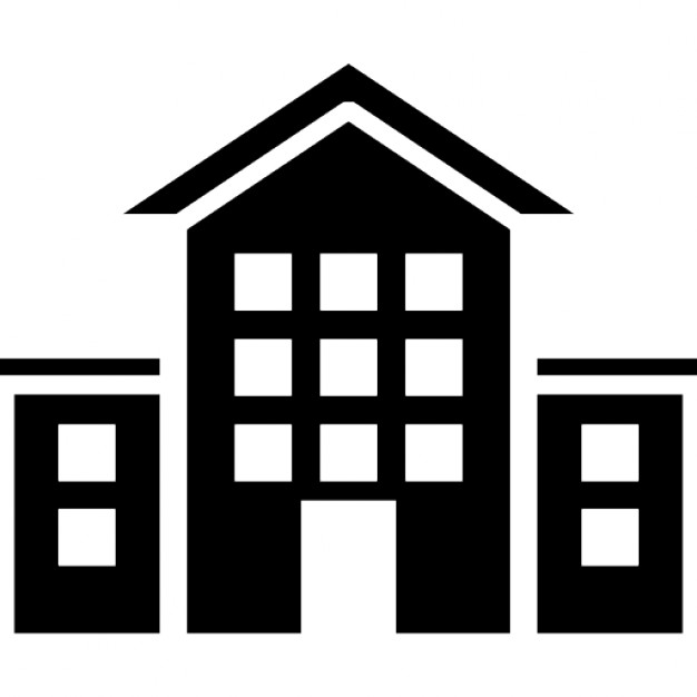 school building icons free download