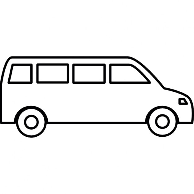 Van Outline on mini cargo vans