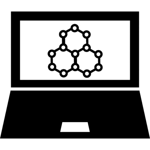 Science Symbols On Computer Screen Icons Free Download