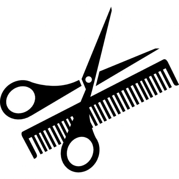 scissor and comb icons free download