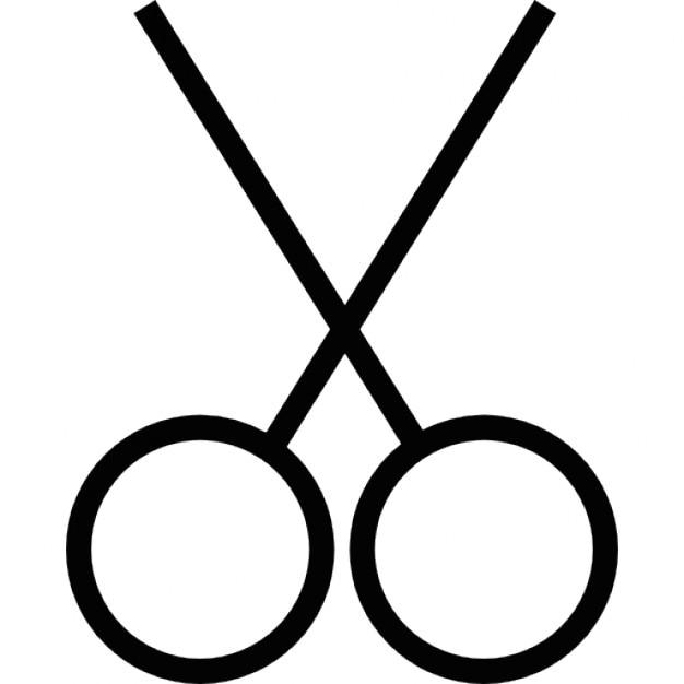 Scissors tool outline, IOS 7 interface symbol Icons | Free ...