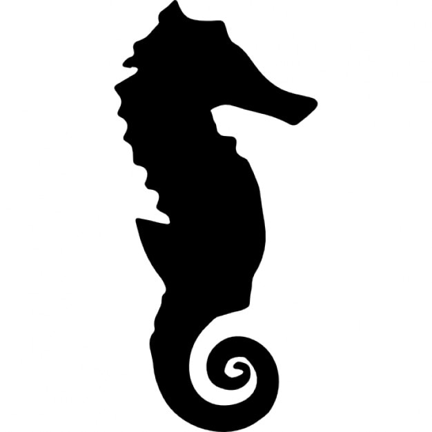 seahorse silhouette icons free download rh freepik com seahorse vector free download seahorse vector download