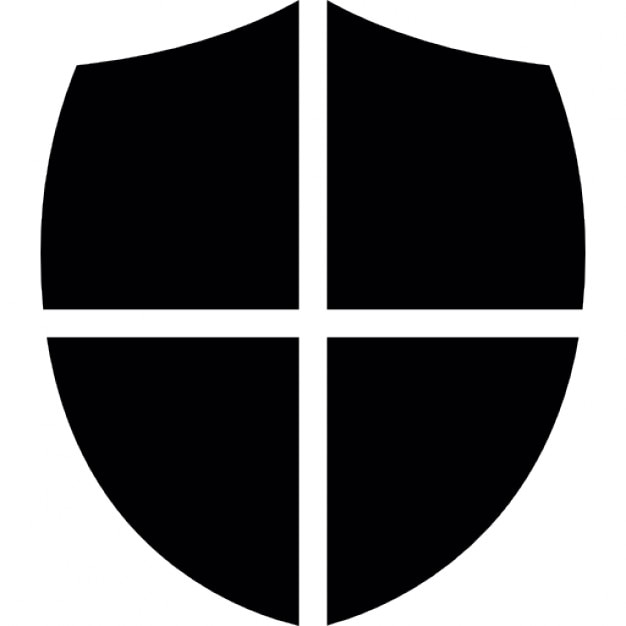 Shield Little Shape With A Cross Free Icon