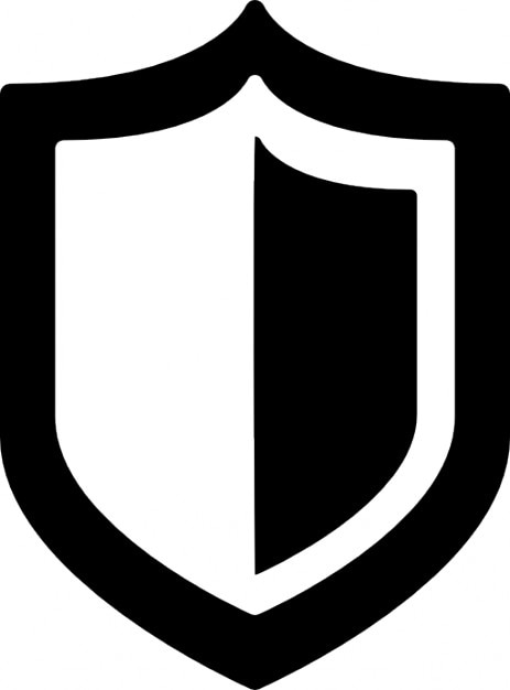 Shield Icon Black And White shield icons free download