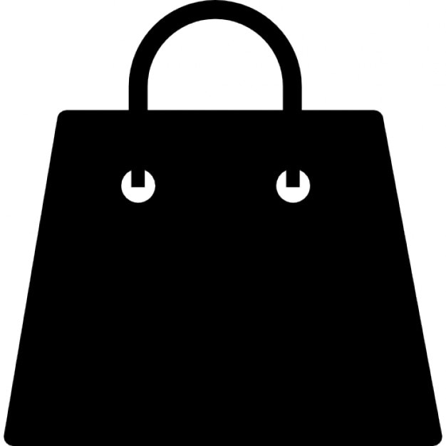 Shopping bag black silhouette Icons | Free Download