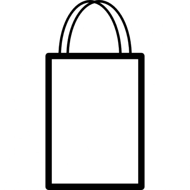 Shopping bag outline with double handle Icons | Free Download