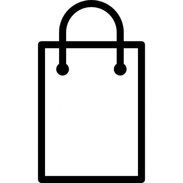 Shopping bag rectangular outline Icons | Free Download