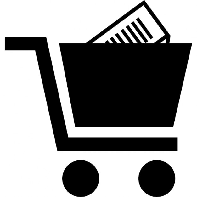shopping cart with product inside icons free download