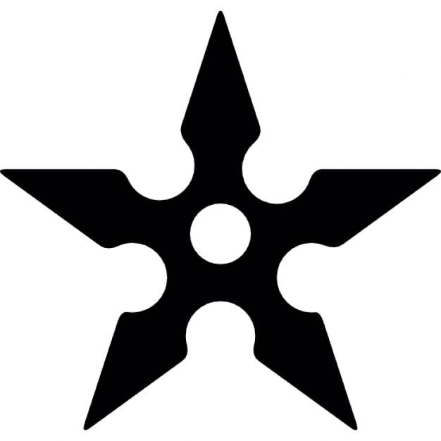 Ninja Star Template Shuriken Vector...