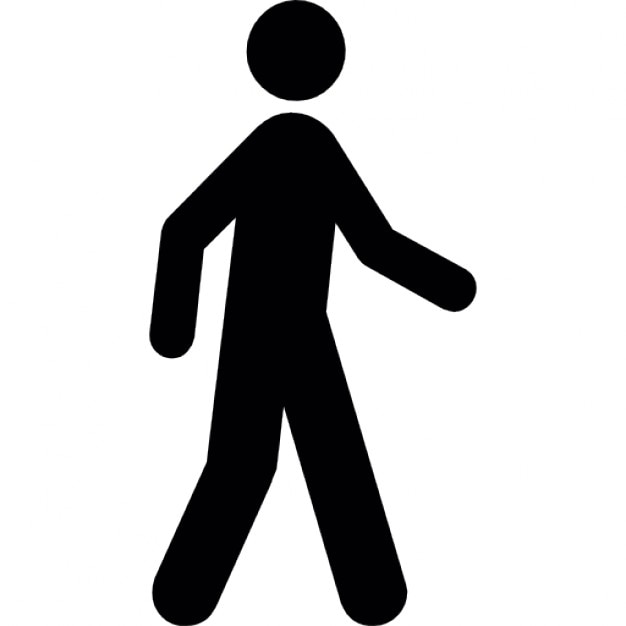 silhouette of a man walking icons free download rh freepik com Seat Belt Clip Art People Walking Clip Art