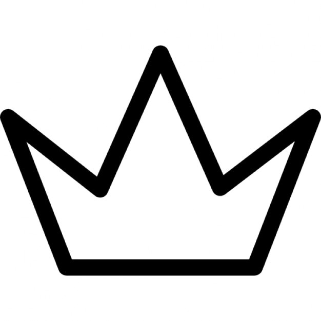 Simple Crown Outline Icons Free Download