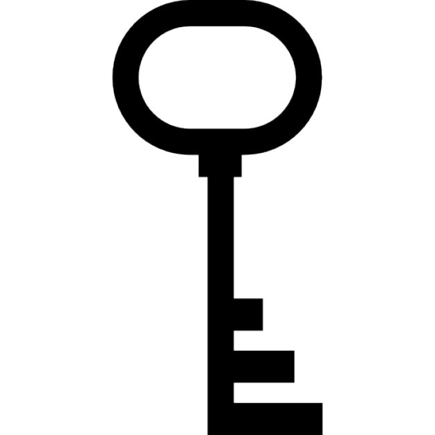 Simple Key Silhouette Icons