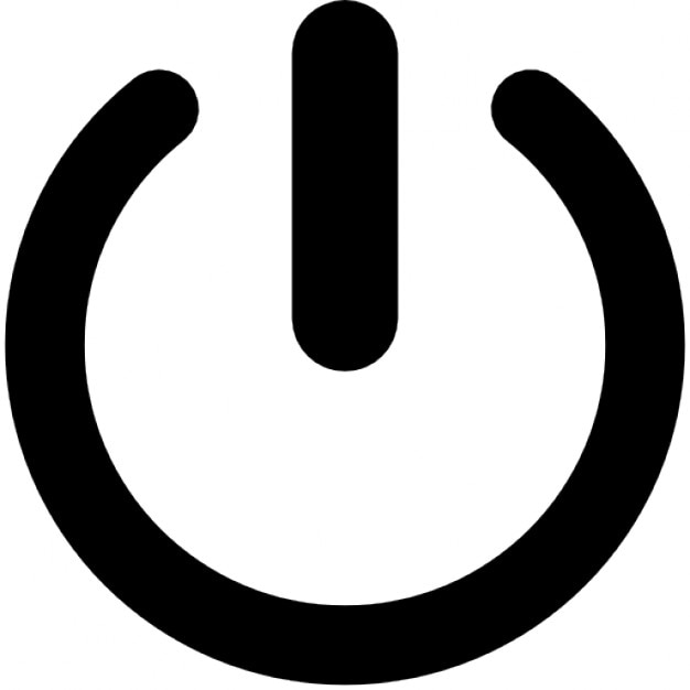 Simple on/off button Free Icon