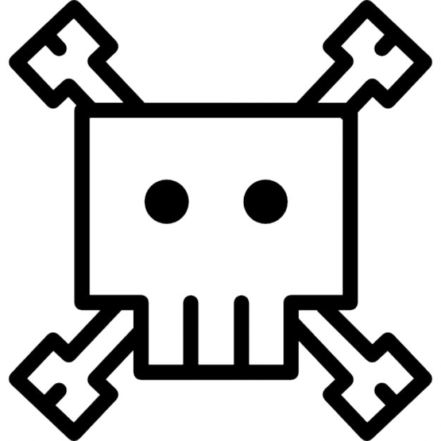 skull cartoon variant outline free icon - Outline Cartoon Pictures