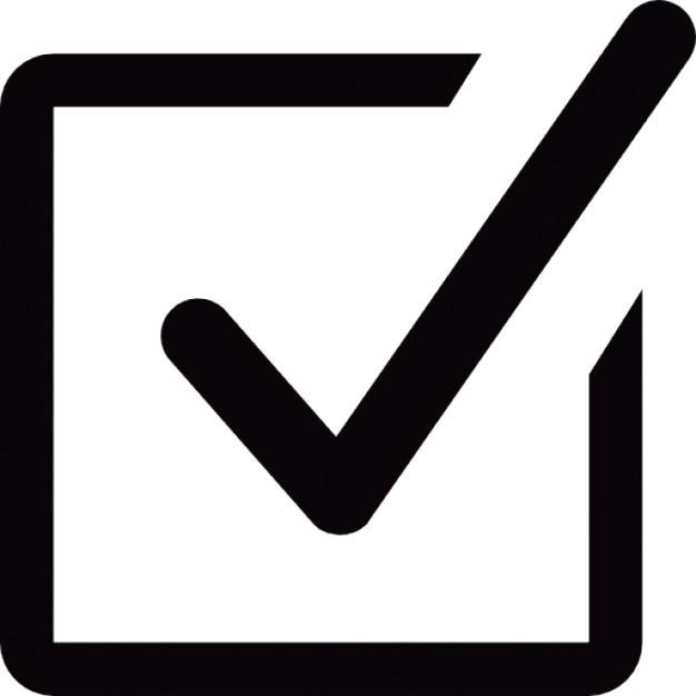 small checked box free icon check small