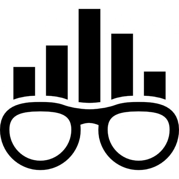 Smart Rank Symbol Of Eyeglasses With Bars Graphic Icons Free Download